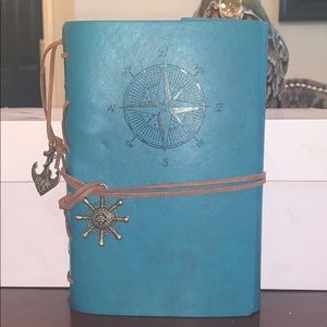 Teal Nautical Compass Journal, Blank Page